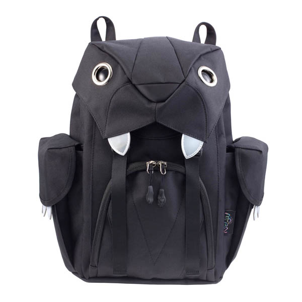 6e814f28843c citron glaces  MORN CREATIONS Mohn creation big cat backpack small size  black BC-104BLK