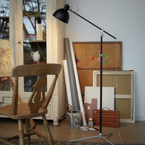 ART WORK STUDIO アートワークスタジオ ソーホーフロアーランプ AW-0294 BK ブラック