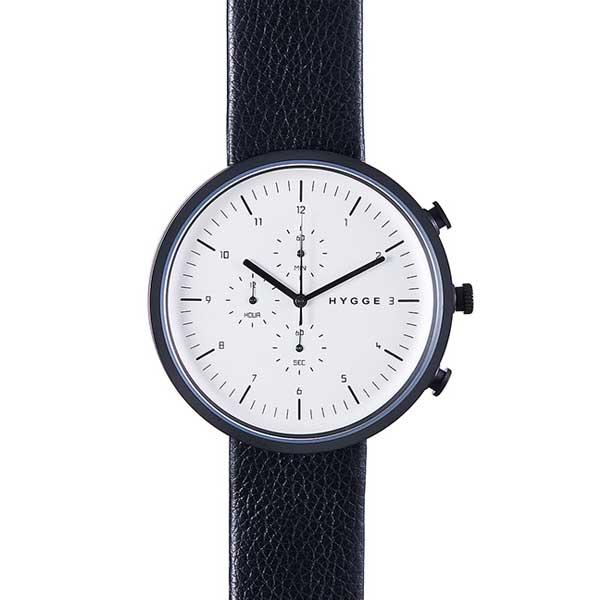 ヒュッゲ HYGGE 腕時計 Horizon ホライズン HGE020080 Black&White 【送料無料】