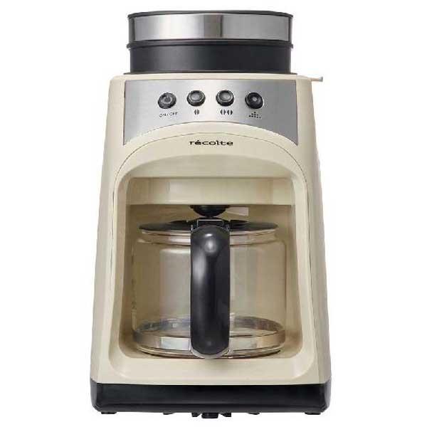 recolte レコルト Grind and Drip Coffee Maker グラインド アンド ドリップコーヒーメーカー FIKA フィーカ ホワイト RGD-1(W) 【送料無料】