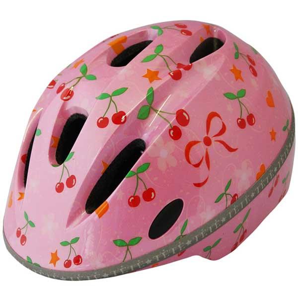 激安格安割引情報満載 小学生向けのサイズが登場 TETE テテ の新シリーズ ヘルメット 送料無料 35%OFF ピンク アミティ チェリー Amity