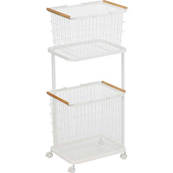トスカ Tosca ランドリーワゴン+バスケット Laundry Wagon + Basket ホワイト WH 03300(773300) 【北海道・沖縄・離島配送不可】【ラッピング不可】【代引不可】