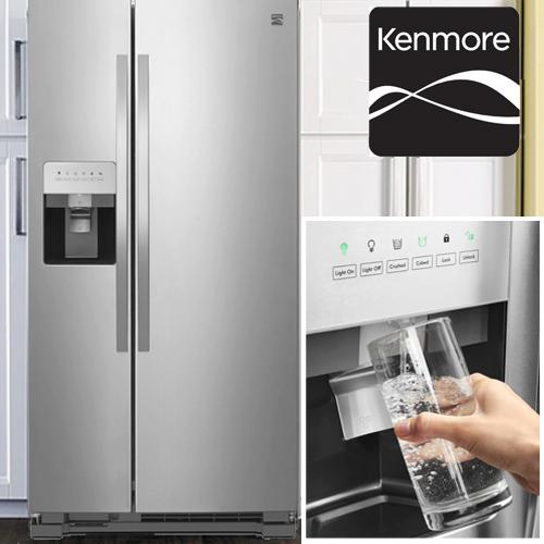 冷蔵庫 大型 ケンモア kenmore アメリカ大型冷蔵庫 冷凍冷蔵庫 2ドア冷蔵庫 KRS5175S ステンレス 冷蔵庫 606L冷水ディスペンサー付(GE冷蔵庫、AEG冷蔵庫からの入替におすすめ)観音開き 大容量 設置 新品【メーカー直送・代引き/後払い不可】