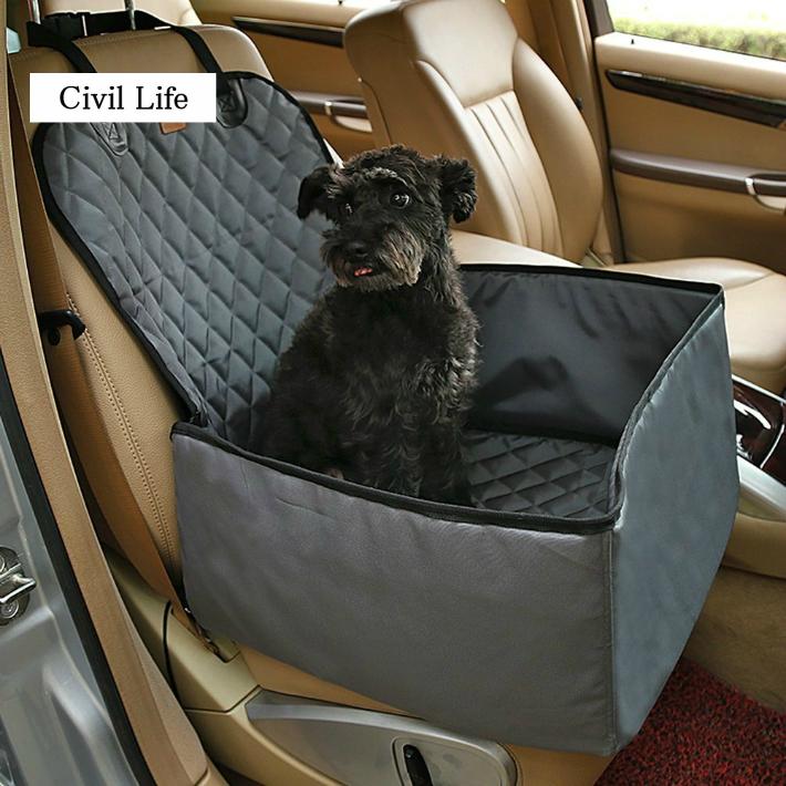 【1年保証】折り畳み式 汚れに強い 防水 撥水 清潔/取付簡単応 【送料無料】ペットドライブシート 車用ペットシート 助手席後座席兼用 車載カバー 犬 いぬ ペットシート ドライブボックス カーシートカバー ペットのお出かけ用品 ドライブ用品 新型 全車種・全種犬猫適応[Civil Life]
