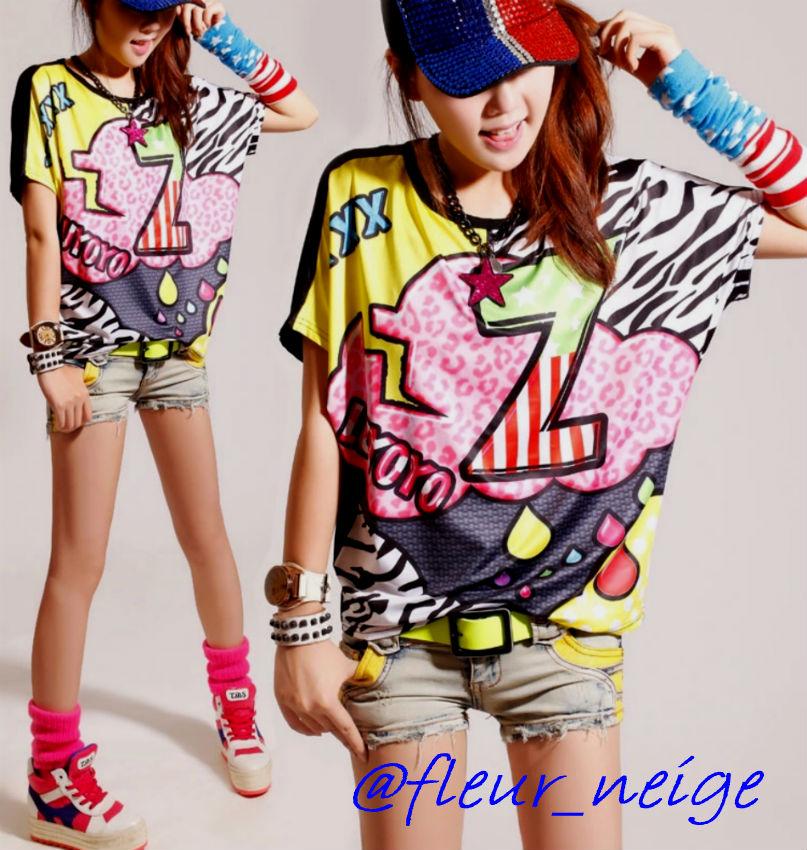 7fd1b7185ea5a 楽天市場 Tシャツ DANCE ダンス 衣装 ヒップホップ ガールズ レディース ...