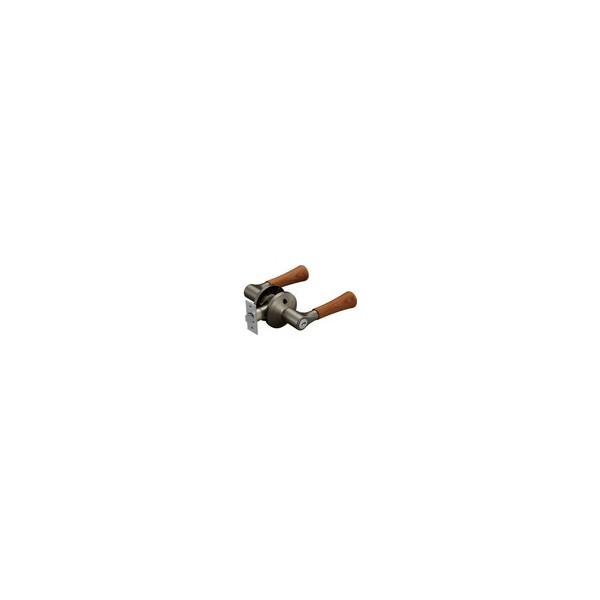 リフォーム商品 マツ六 兼用バリアフリーレバー木製鍵付錠 EL5060-35MW-UMB アンバー+Mブラウン DIY リフォーム