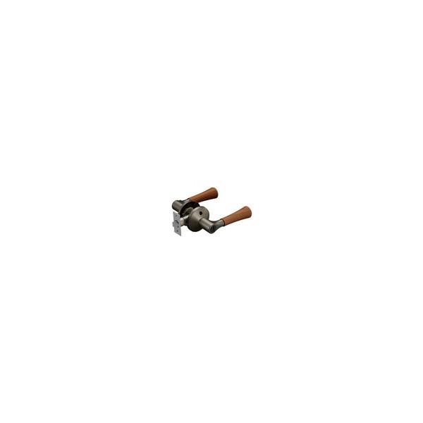 リフォーム商品 マツ六 兼用バリアフリーレバー木製トイレ錠 EL5060-4MW-UMB アンバー+Mブラウン DIY リフォーム