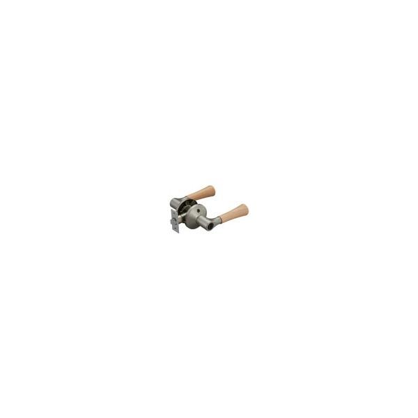リフォーム商品 マツ六 兼用バリアフリーレバー木製間仕切錠 EL5060-3MW-NSNC Nシルバー+Nクリア DIY リフォーム