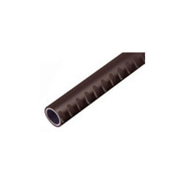 【リフォーム用品】 マツ六 32アルミ樹脂巻手すり棒屋外用 ディンプル付 DT-3 チョコレート 3000 DIY リフォーム