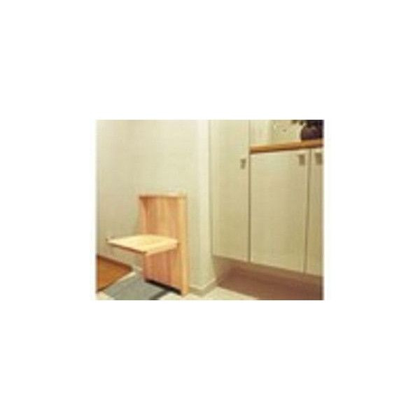 【リフォーム用品】 マツ六 壁付折りたたみ椅子 クリア DIY リフォーム