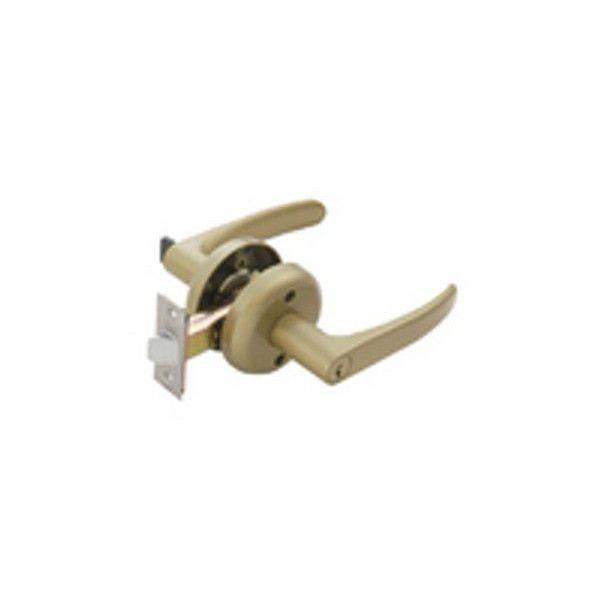 【リフォーム用品】 マツ六 兼用レバー取替錠 鍵付間仕切錠 ゴールド DIY リフォーム