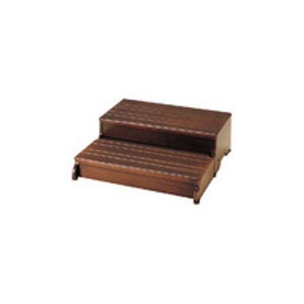 【リフォーム用品】アロン化成 安寿 木製玄関台60W-30-2段 (ブラウン)[535-584] DIY リフォーム