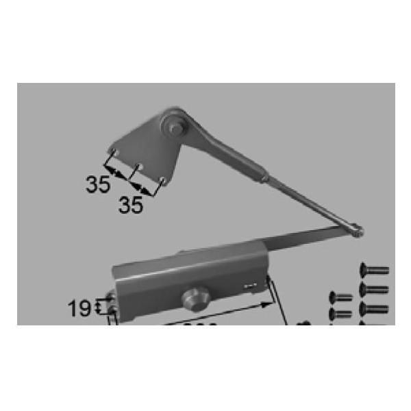 リクシル 部品 ドアクローザ J3Y809B DASZ204の代替品 色 アンバー LIXIL トステム メンテナンス DIY リフォーム