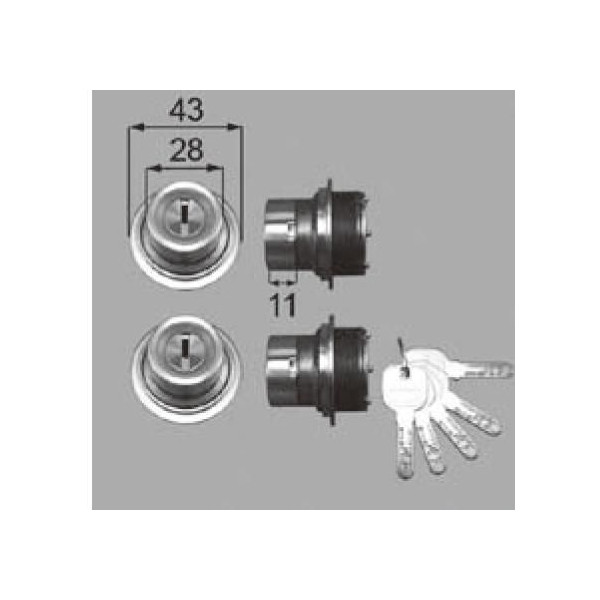 リクシル 部品 シリンダーセットJN DCZZ101 LIXIL トステム メンテナンス DIY リフォーム