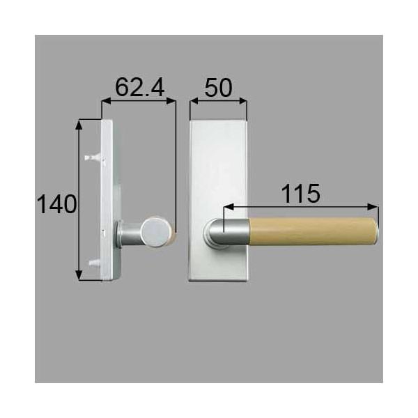 リクシル メンテナンス部品 ウッドグリップDタイプ空錠 MZTEWDS51 LIXIL トステム メンテナンス DIY リフォーム