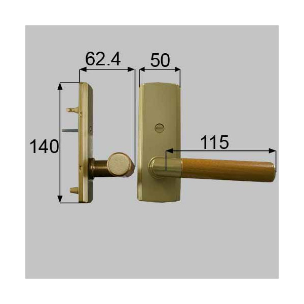 リクシル メンテナンス部品 ウッドグリップDタイプ簡易錠 MZTKWDK05 LIXIL トステム メンテナンス DIY リフォーム