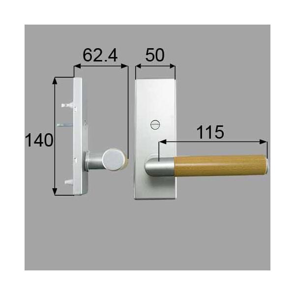 リクシル メンテナンス部品 ウッドグリップDタイプ簡易錠 MZTNWDK51 LIXIL トステム メンテナンス DIY リフォーム