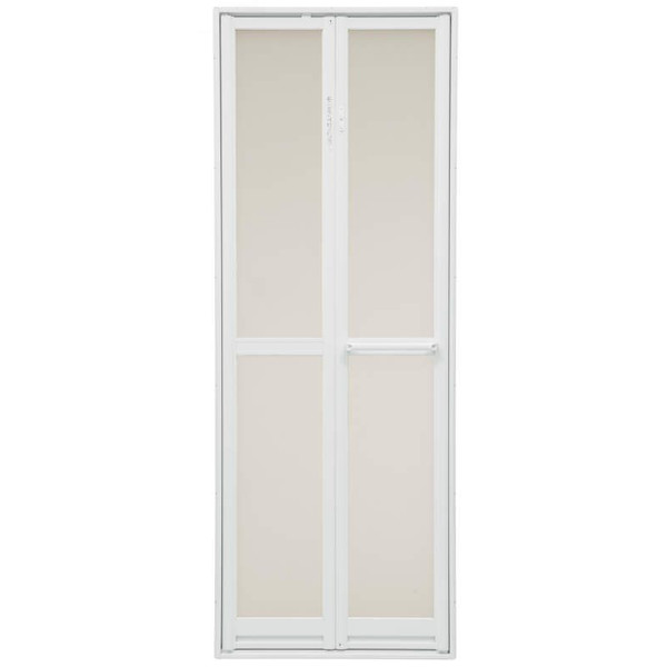 三協 アルミ 浴室折ドア 樹脂パネル付き 外付型0718:[幅706mm×高1733.5mm] DIY リフォーム