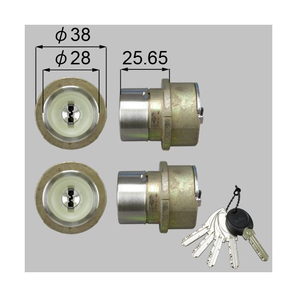 リクシル 部品 JNシリンダー ドア錠セット MIWA DNシリンダー 内筒のみ LIXIL TOSTEM トステム D14Z8011 素材色 メンテナンス DIY リフォーム