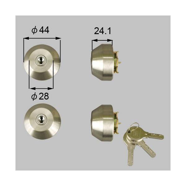 リクシル 部品 JNシリンダー ドア錠セット ユーシン WNシリンダー LIXIL TOSTEM トステム Z-5201-DVAE シルバー LIXIL トステム メンテナンス DIY リフォーム