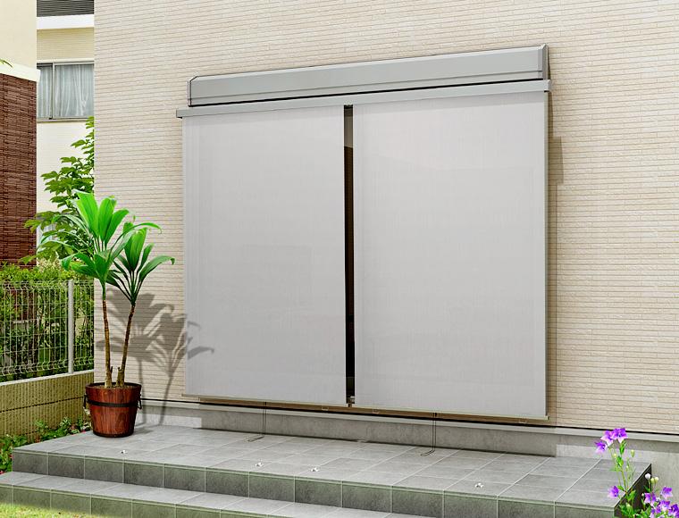 18611 日よけ リクシル トステム サイズW2030×H1210 【承認】 (単体引違い・シャッター・雨戸サッシ専用) スタイルシェード外付けスクリーン