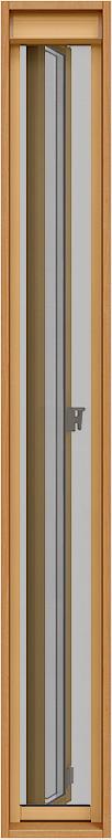 上げ下げロール網戸(木額縁用) サーモスL 縦すべり出し窓 / カムラッチハンドル仕様用 02618[02318] Aw:230mm × Ah:1,800mm LIXIL リクシル TOSTEM トステム
