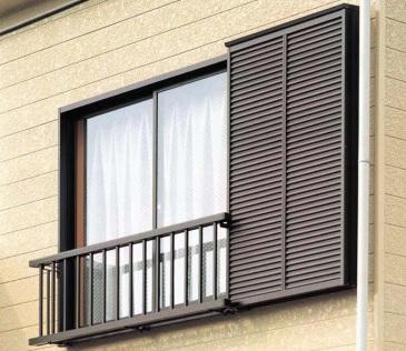 アルミ窓手すりS型 出幅:159mm 16512 W:1,904×H:1,200 リクシル TOSTEM トステム