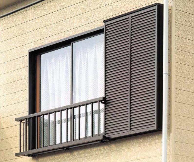 アルミ手すりS型 雨戸付引違い窓用 外付型 戸袋妻板直止め 19105 W:2,026mm × H:500mm LIXIL リクシル TOSTEM トステム