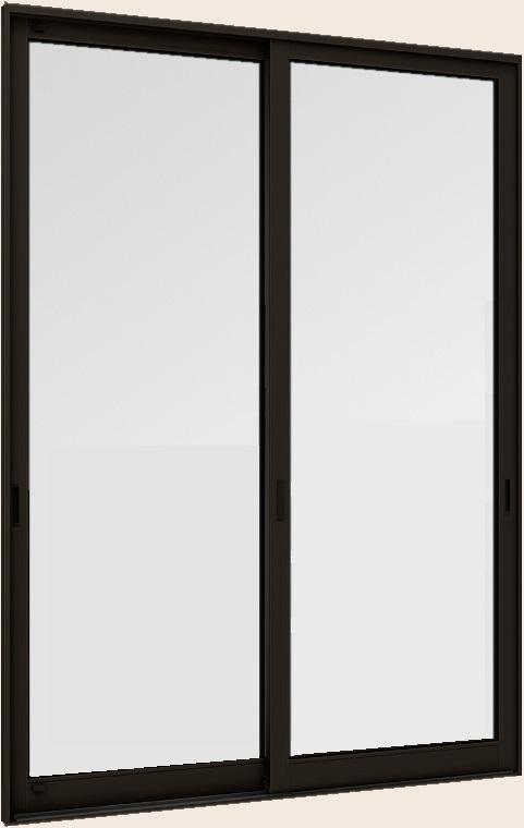 断熱土間引戸 サーモスLタイプ 一般複層ガラス仕様 ランマなし 2枚建て 1枚ガラス仕様 16518 W:1,690mm × H:1,830mm LIXIL リクシル TOSTEM トステム
