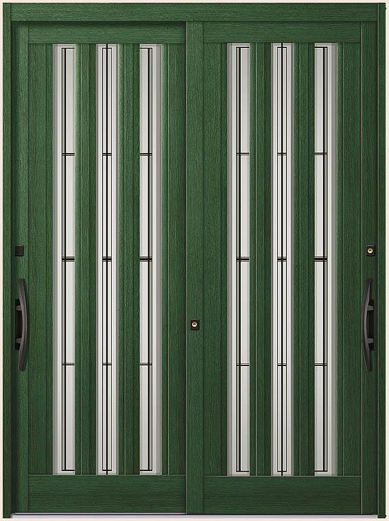 エレンゼ K6 12型 2枚建て 半外付枠 ランマなし 16922 W:1,692mm × H:2,280mm 玄関 引戸 LIXIL リクシル TOSTEM トステム