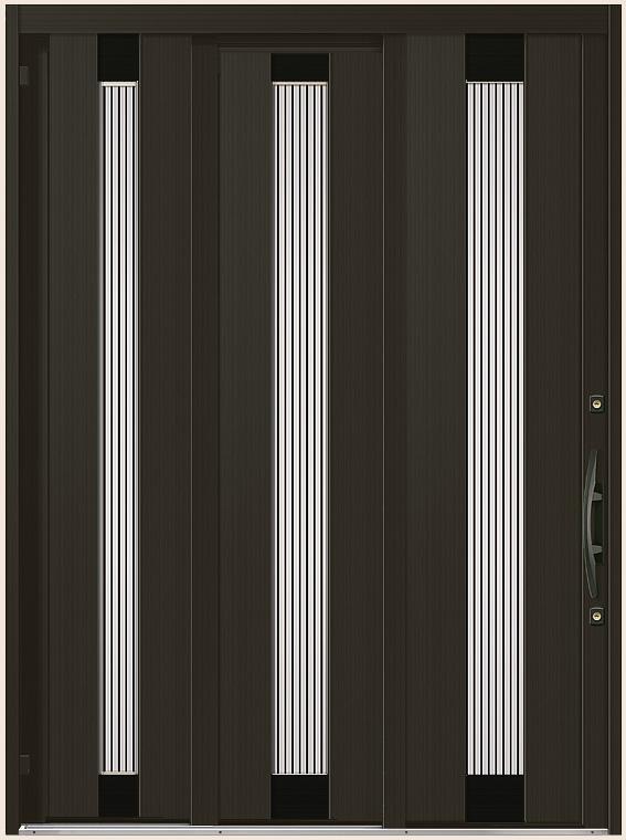 エレンゼ K6 18型 袖付2枚引 ランマなし アルミ色 18722 玄関 引き戸 LIXIL リクシル TOSTEM トステム DIY リフォーム