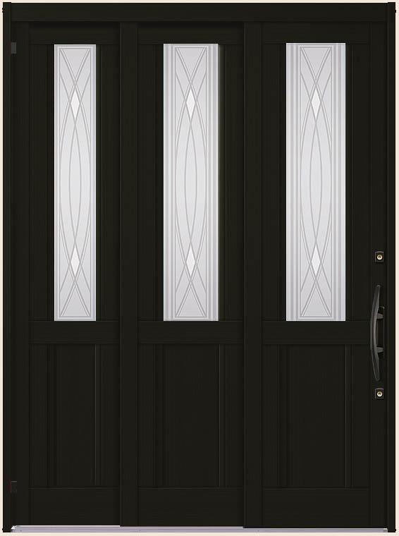 エレンゼ K6 22型 袖付2枚引 ランマなし アルミ色 18722 玄関 引き戸 LIXIL リクシル TOSTEM トステム DIY リフォーム