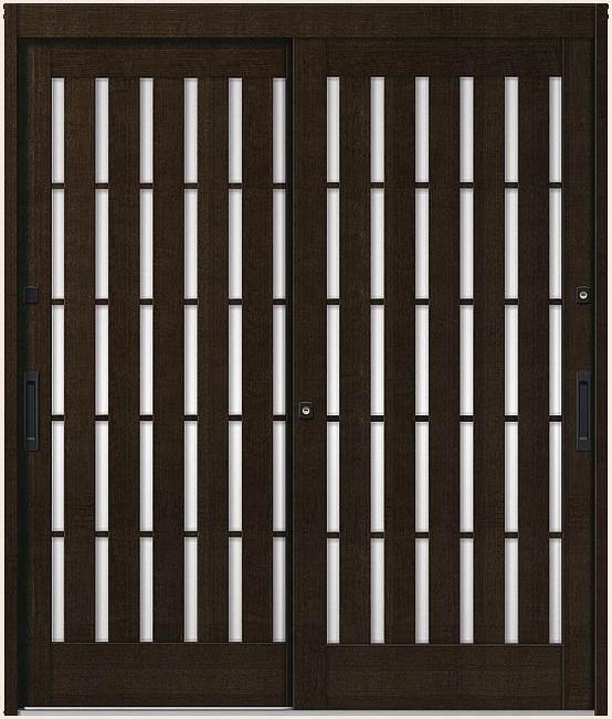 【国産】 花伝 K6 94型 板子格子 2枚建 半外付枠 ランマなし 18022 玄関 引き戸 LIXIL リクシル TOSTEM トステム DIY リフォーム, 美脚パンツのANIMAS japan 851ef085
