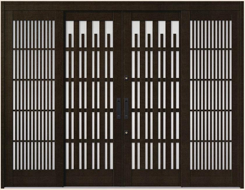 花伝 K6 引分け戸 内付枠 ランマなし 93型 切子格子 28422 W:2,845mm × H:2,280mm 玄関引戸 LIXIL リクシル TOSTEM トステム