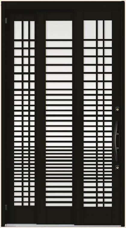 木屋町 K6 30型 漣格子 袖付2枚引 ランマなし 12422 玄関 引き戸 LIXIL リクシル TOSTEM トステム DIY リフォーム