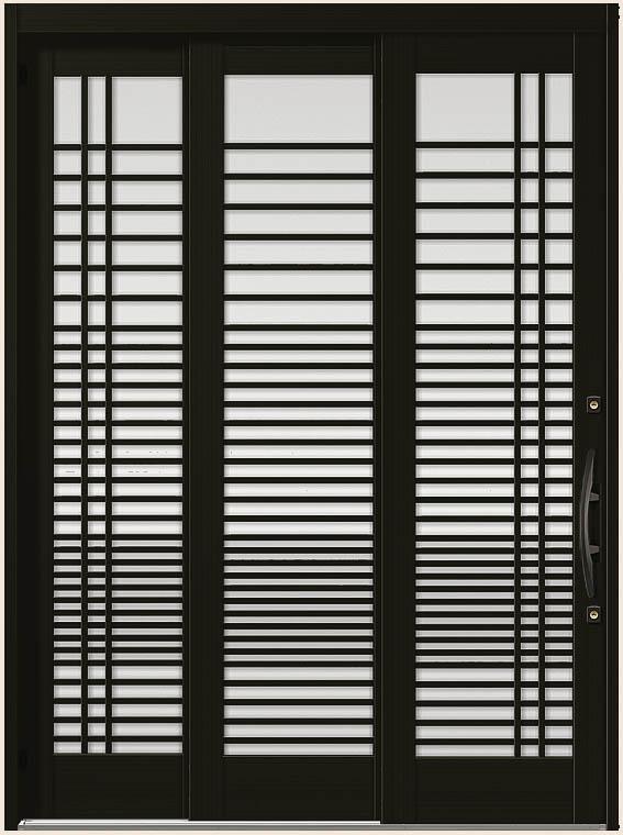 木屋町 K6 30型 漣格子 袖付2枚引 ランマなし 18722 玄関 引き戸 LIXIL リクシル TOSTEM トステム DIY リフォーム