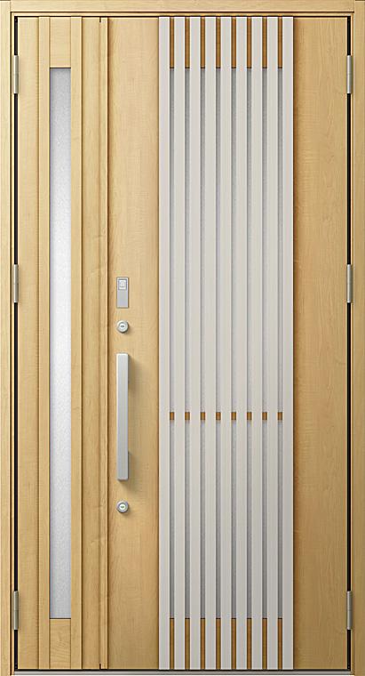 玄関ドアDA V22型 K4仕様 親子ドア 特注サイズ W:924~1,390mm × H:1,813~2,413mm LIXIL リクシル TOSTEM トステム