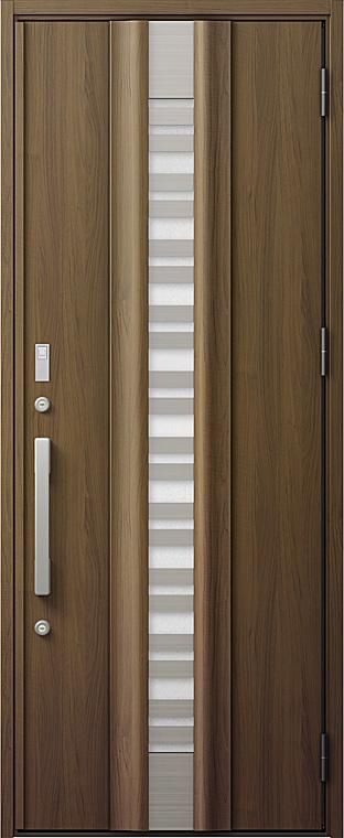 玄関ドアDA V82型 K2仕様 片開きドア 採風デザイン 特注サイズ W:810~973mm × H:1,813~2,330mm LIXIL リクシル TOSTEM トステム