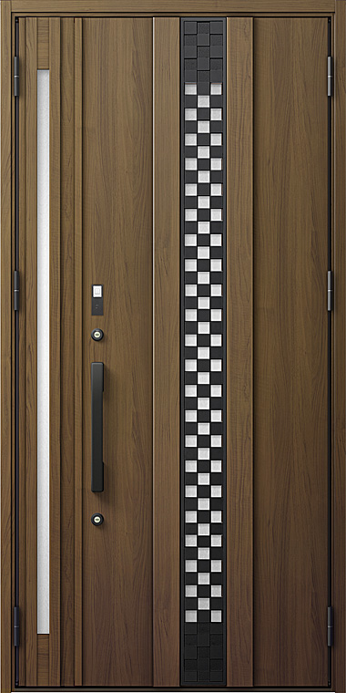 玄関ドアDA V83型 K2仕様 親子ドア 入隅タイプ FamiLockプラン仕様 採風デザイン W:1,138mm×H:2,330mm LIXIL リクシル TOSTEM トステム