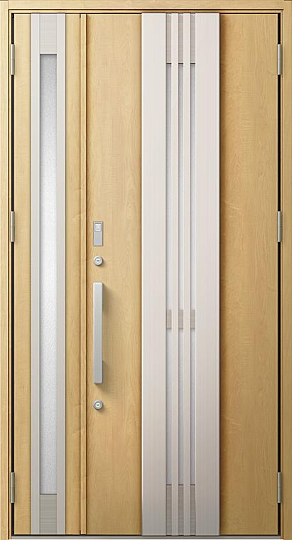 玄関ドアDA V85型 K2仕様 親子ドア FamiLockプラン仕様 採風デザイン W:1,240mm×H:2,330mm LIXIL リクシル TOSTEM トステム