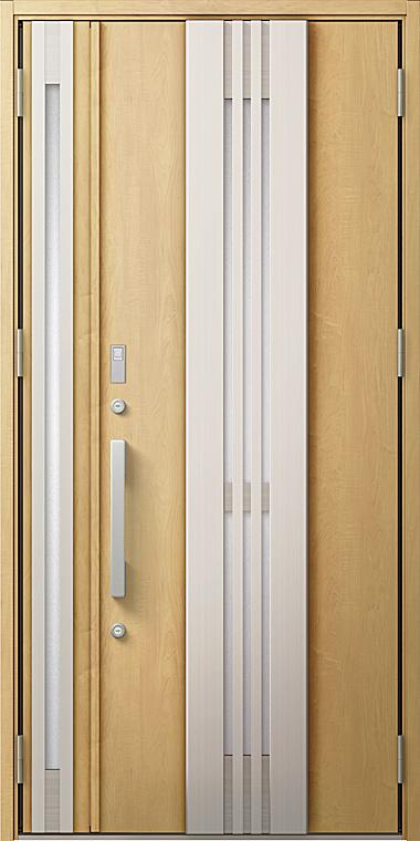 玄関ドアDA V85型 K2仕様 親子ドア 入隅タイプ FamiLockプラン仕様 採風デザイン W:1,138mm×H:2,330mm LIXIL リクシル TOSTEM トステム