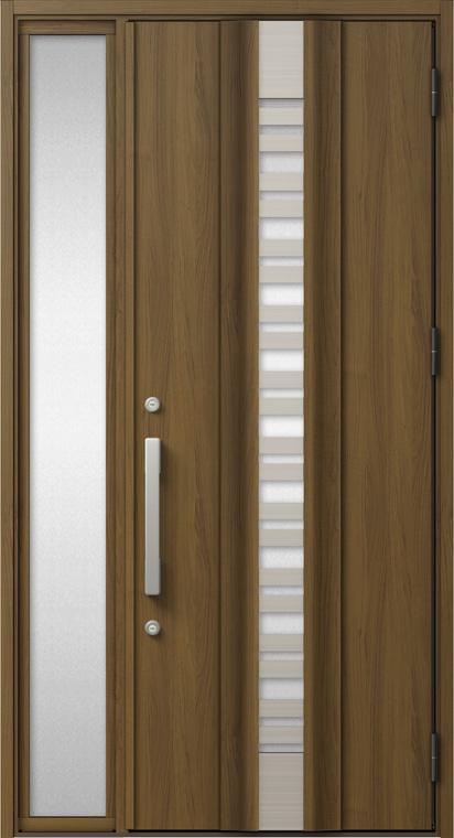 ジエスタ GIESTA G82型 K4仕様 片袖 採風デザイン W:1,240mm×H:2,330mm 断熱 玄関 ドア リクシル LIXIL DIY リフォーム
