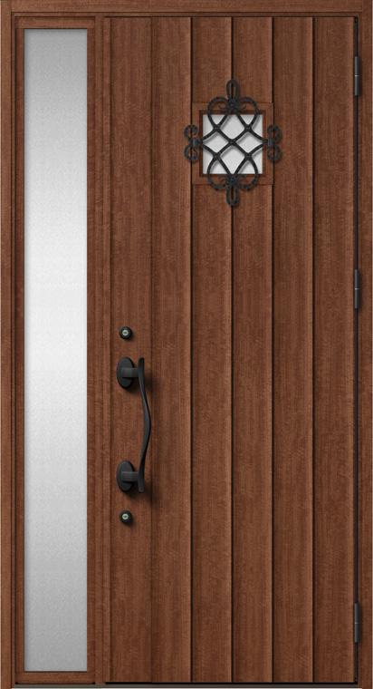 ジエスタ GIESTA D52型 K4仕様 片袖 内外同テイスト W:1,240mm×H:2,330mm 断熱 玄関 ドア リクシル LIXIL DIY リフォーム