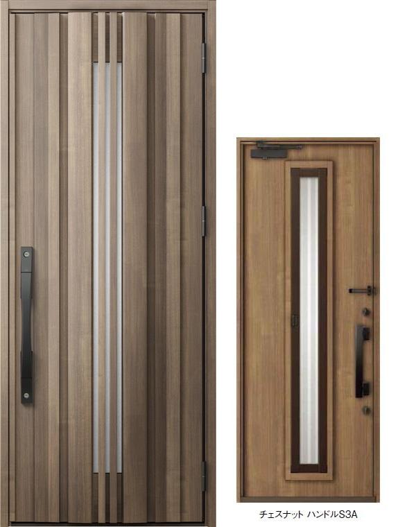 ジエスタ GIESTA G81型 K4仕様 片開きドア 採風デザイン 特注サイズ W:924mm × H:1,813~2,413mm 断熱 玄関 ドア リクシル LIXIL DIY リフォーム