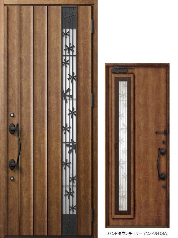 ジエスタ GIESTA P81型 K4仕様 片開きドア 採風デザイン W:924mm×H:2,330mm 断熱 玄関 ドア リクシル LIXIL DIY リフォーム