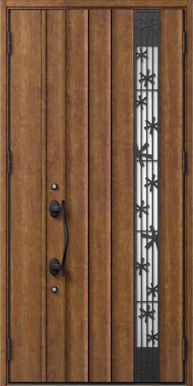 ジエスタ GIESTA P81型 K2仕様 親子ドア 入隅タイプ 採風デザイン W:1,138mm×H:2,330mm 断熱 玄関 ドア リクシル LIXIL DIY リフォーム
