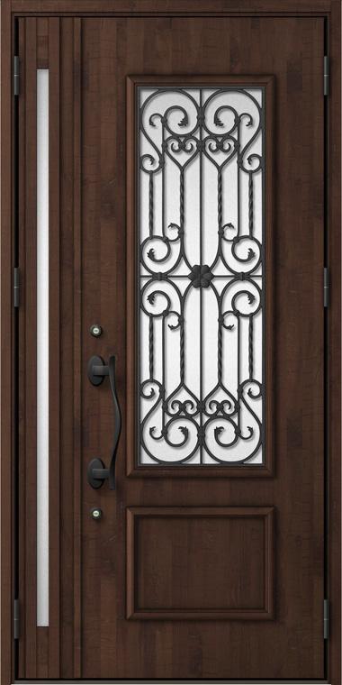ジエスタ GIESTA C73型 K2仕様 親子ドア 入隅タイプ 内外同テイスト W:1,138mm×H:2,330mm 断熱 玄関 ドア リクシル LIXIL DIY リフォーム