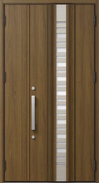 ジエスタ GIESTA G82型 K2仕様 親子ドア 採風デザイン W:1,240mm×H:2,330mm 断熱 玄関 ドア リクシル LIXIL DIY リフォーム