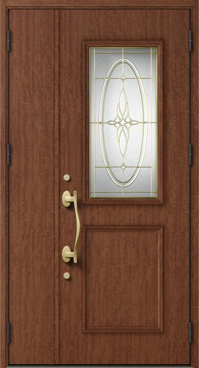 ジエスタ GIESTA C14型 K4仕様 親子ドア W:1,240mm×H:2,330mm 断熱 玄関 ドア リクシル LIXIL DIY リフォーム