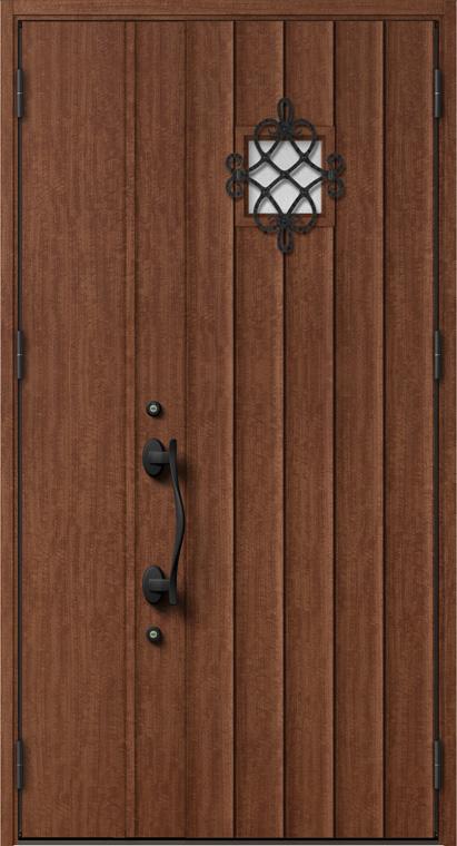 ジエスタ GIESTA D52型 K4仕様 親子ドア 内外同テイスト W:1,240mm×H:2,330mm 断熱 玄関 ドア リクシル LIXIL DIY リフォーム